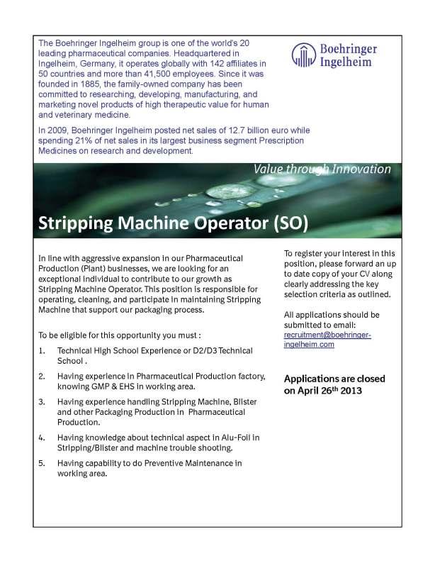 Striping Operator