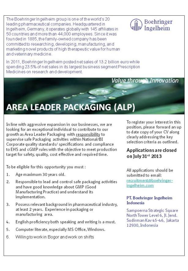 Loker Area Leader Packaging